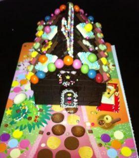 手作りのチョコレートハウス!