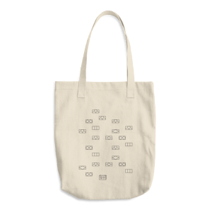 Japanese Brick Wall - Cotton Tote Bag