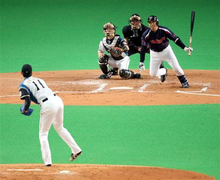 Miyamoto gets his 2098th career hit from Otani.