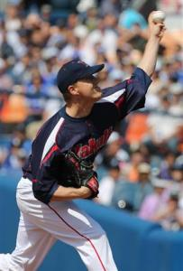 Figuring it out? Just one pitch separated Narveson from his first win in Japan.
