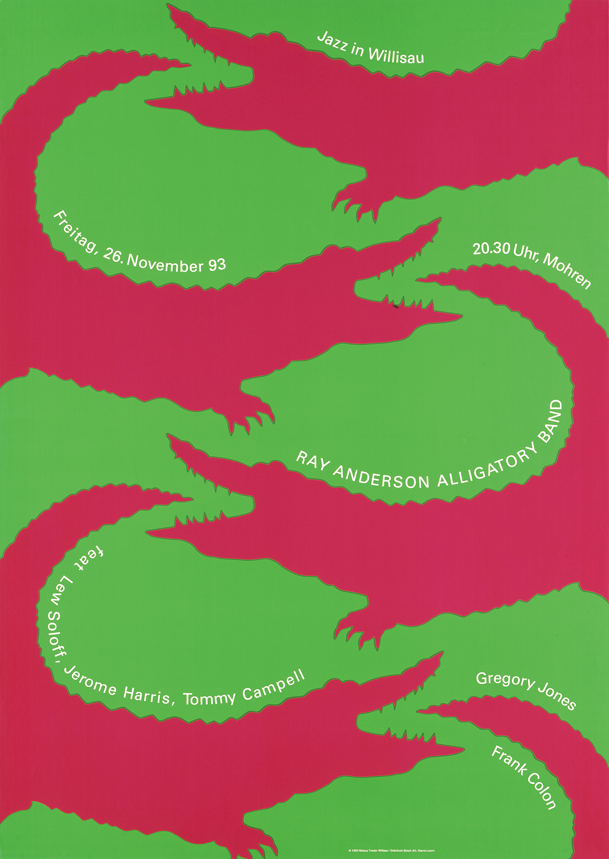 ニクラウス・トロクスラー|ポスター 「SEEPARK THUN」/「Jazz in Willisau」