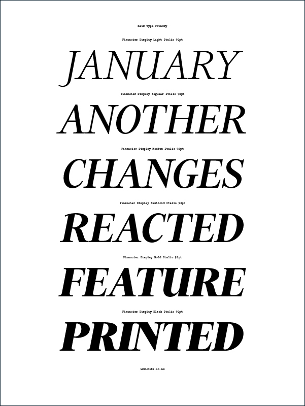 Kris Sowersby|Financier Typeface Family