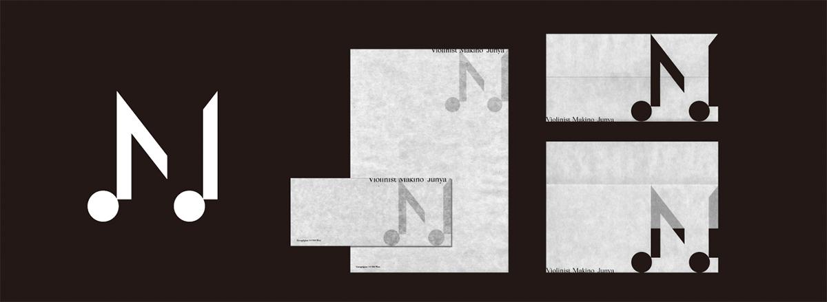 Logo for violinist Junya Makino / 2018 | CI, Branding