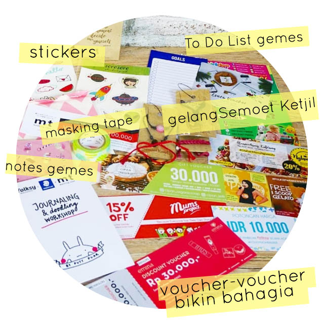 book talk journaling doodling workshop Yogyakarta byputy goodie bag