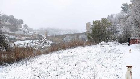 Puente de Alcantara Toledo Nevado