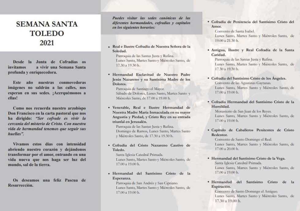 Junta de Cofradías de la Semana Santa de Toledo 2021