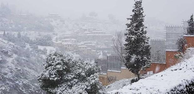 Vistas Paseo del Tránsito Toledo Nevado