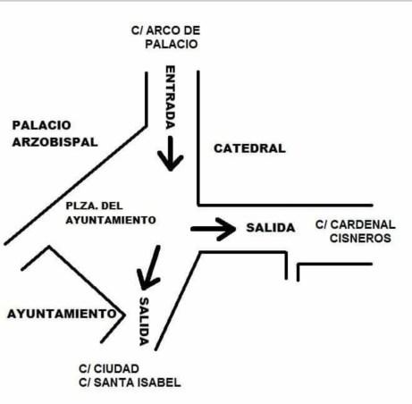 Acceso plaza del Ayuntamiento de Toledo