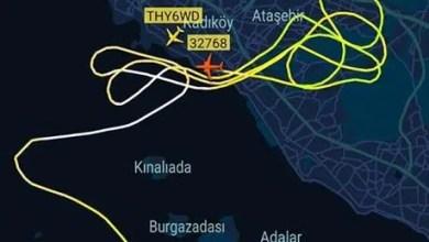 Photo of İstanbul semalarında Flightradar 24'e yansıyan ilginç trafikleri