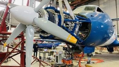 Photo of Jet Yak-40'a süper iletken motor testi için pervane takıldı