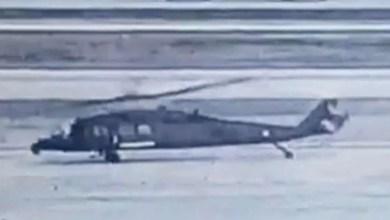 Photo of Jandarma helikopterinin pal çarpma görüntüleri