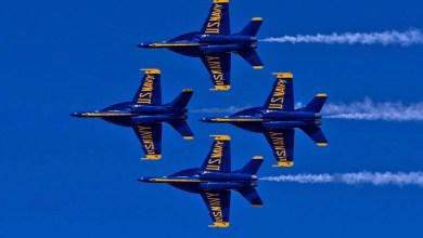 """Photo of Blue Angels, """"Super Hornet""""lerin ilk vakası: Kuş çarpması"""