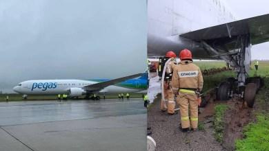 Photo of Boeing 767 Simferopol'de toprağa çıktı