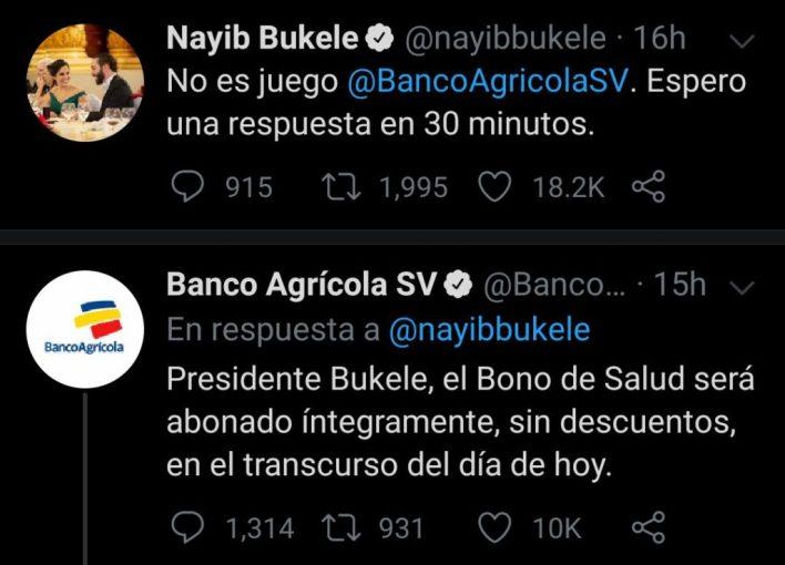 Foto: cuenta de Twitter del Presidente Nayib Bukele @nayibbukele