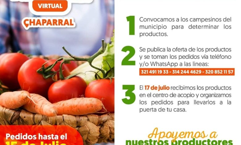 Photo of Mercados Campesinos se desarrollarán de manera virtual