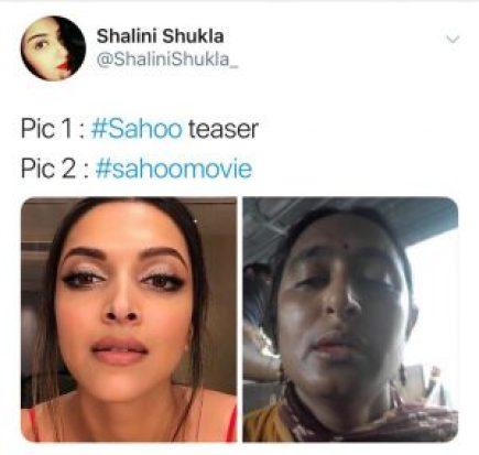 Prabhas Saaho movie trending memes