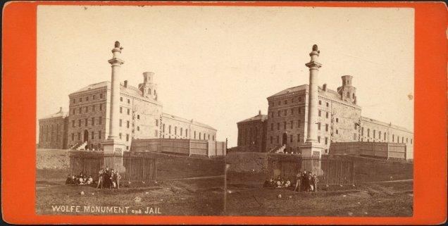 Monument à Wolfe et Prison de Québec, v. 1870. BANQ