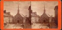 Quartier Vieux-Québec-Basse-Ville - Place Royale - Église Notre-Dame-des-Victoires, v. 1870. BANQ
