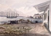 Grosse Île, vue des quartiers des officiers. v. 1838-1840