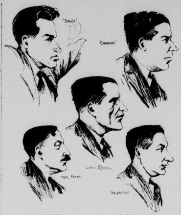 Cinq des accusés. La Patrie, 10 juin 1924.