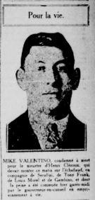 Mike Valentino. La Patrie, 24 octobre 1924