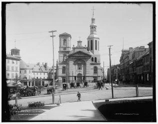 La Basilique Notre-Dame, entre 1890 et 1901. / The Basilica, Quebec