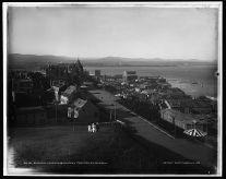 La Terrasse Dufferin et le Château Frontenac, entre 1890 et 1906. / Dufferin Terrace & Chateau Frontenac, Quebec