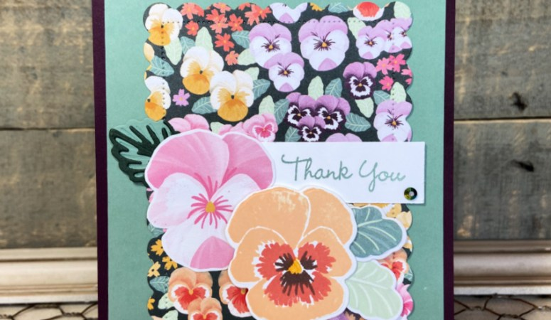 Pansy Patch Thank You Cards