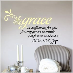 My Grace is Sufficient for You Wall Decal--$28