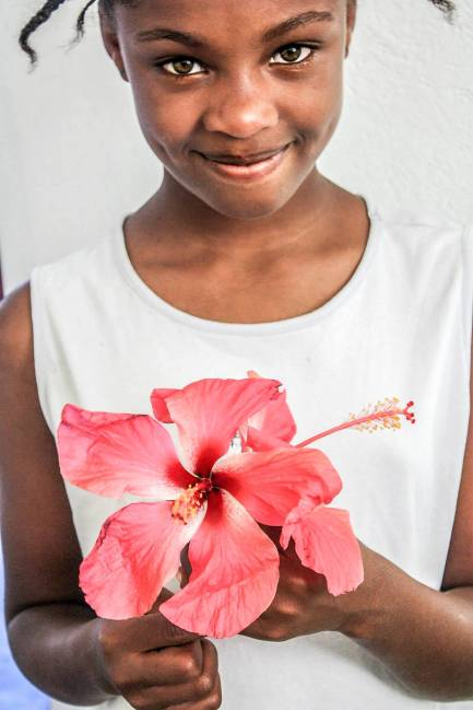 One of the best and brightest people I met in Haiti. This young girl, who was the daughter of the hotel owner, could speak three languages and was very interested in learning all that she could from our cultural exchange. She played with us, watched movies with us, she cooked with us, and she even volunteered to pain a local hospital with us. This girl holds a pretty big place in my heart.