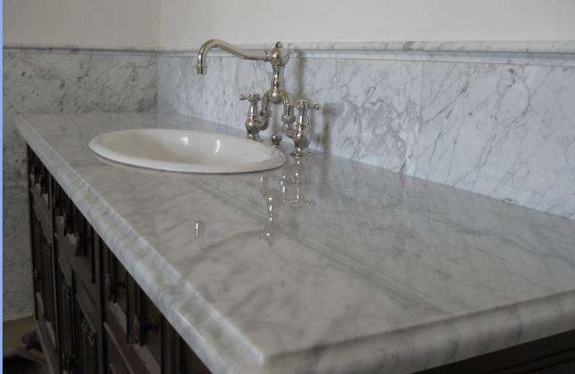 carrera marble bathroom