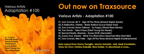 NEW RELEASE – Various Artists 'Adaptation #100'