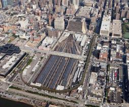 Most of this amazing new neighborhood will be built over this rail yard with a massive platform.