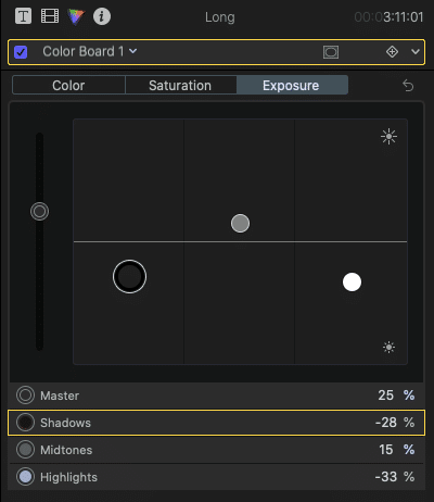 FCPX exposure controls. How to Color Grade.