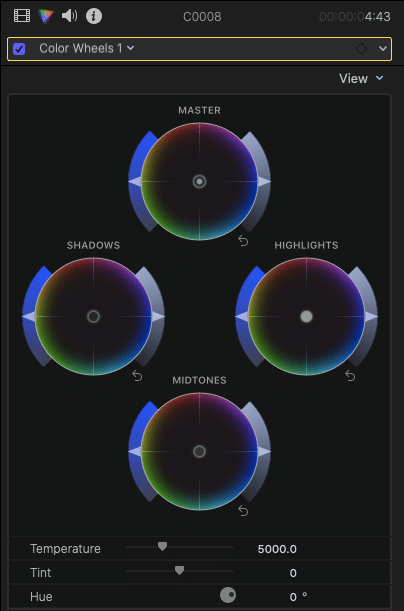 Color Wheels in FCPX