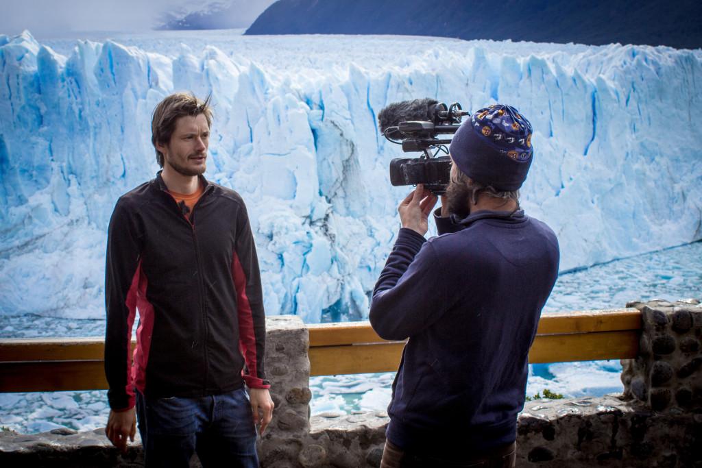 On shoot at the Perito Moreno Glacier in Patagonia, December 2014
