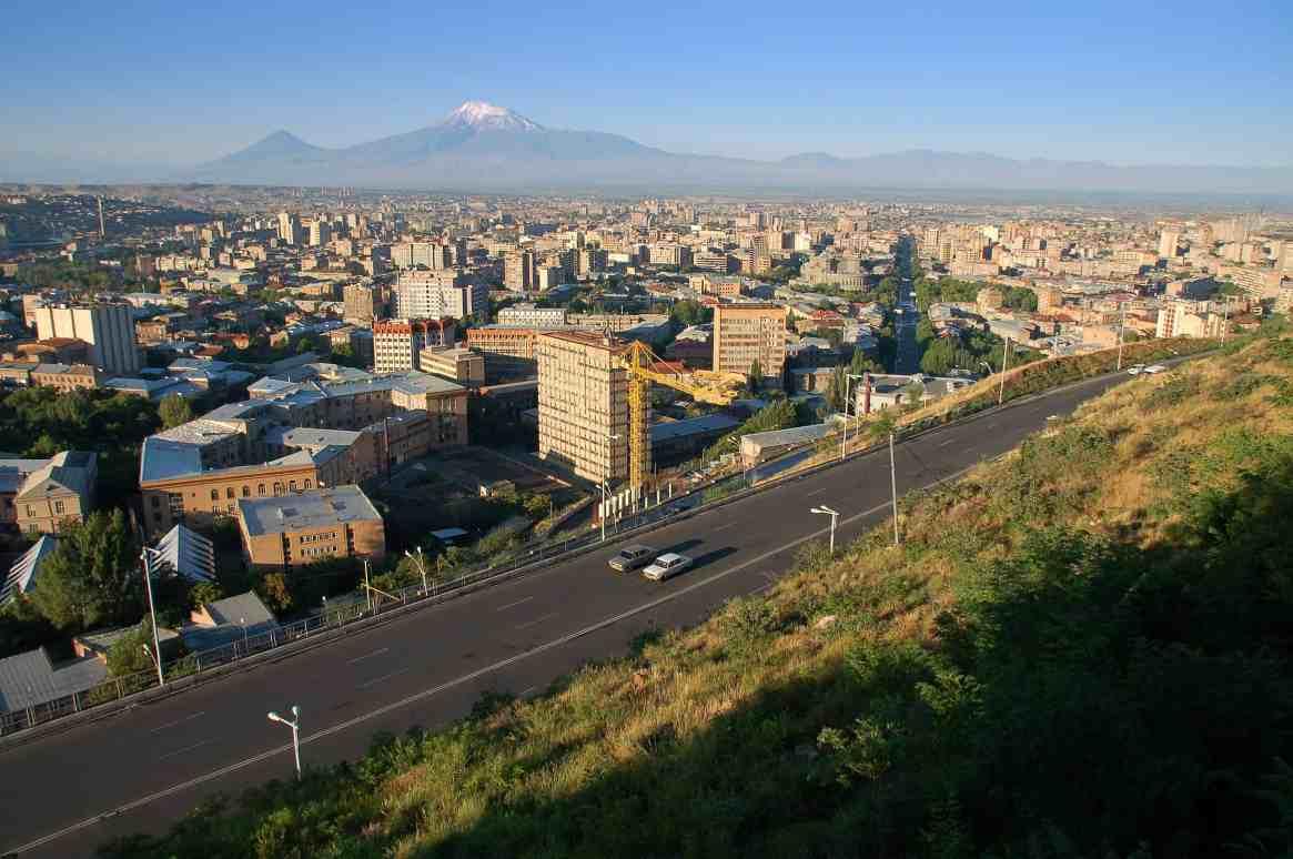 Sunrise over Yerevan