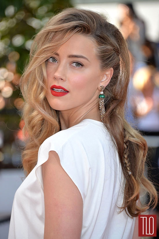 Amber Heard In Vionnet At The Two Days One Night Cannes