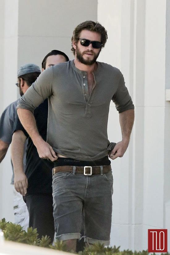 Liam Hemsworth Goes Furniture Shopping In LA Tom Lorenzo