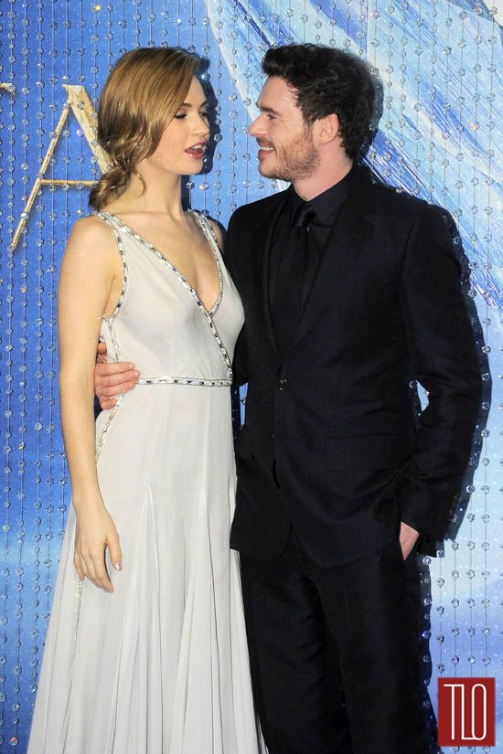 "Lily James and Richard Madden at the ""Cinderella"" Mexico ..."