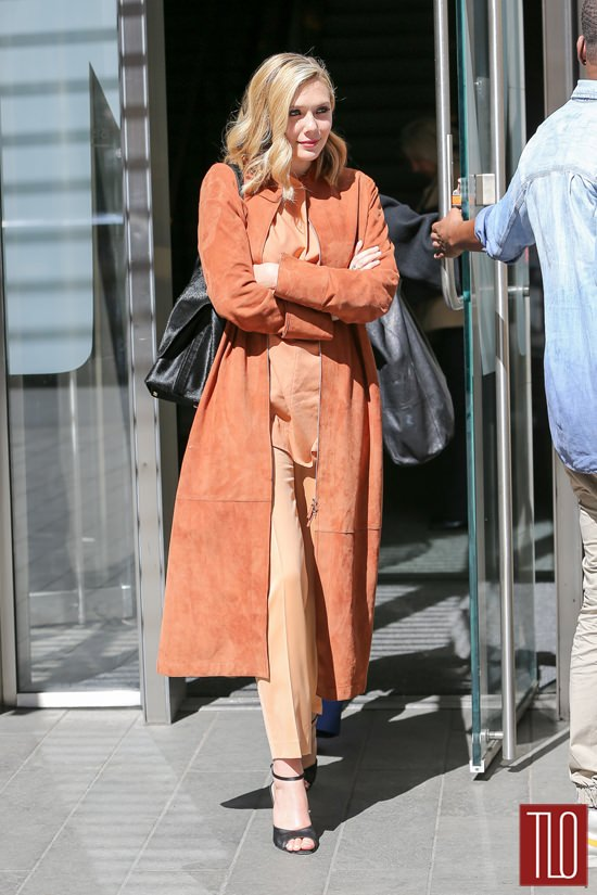 Elizabeth Olsen In The Row New York City Tom Lorenzo