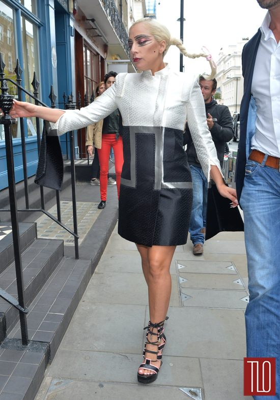 Lady Gaga In Alexander McQueen In London Tom Lorenzo