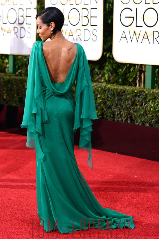 Golden Globes Jada Pinkett Smith In Atelier Versace Tom