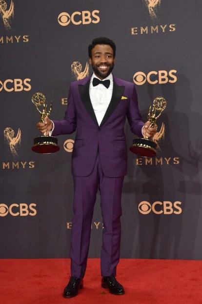 Image result for Emmy Awards Red Carpet 2017 Donald Glover