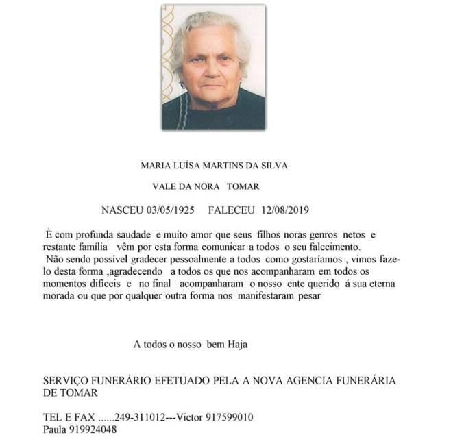 MARIA LUISA MARTINS DA SILVA