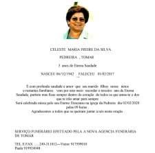 CELESTE MARIA FREIRE DA SILVA 3 ano de Saudad