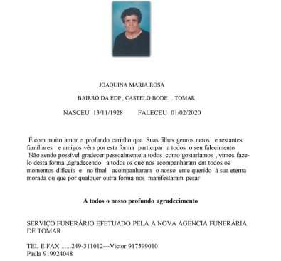 JOAQUINA MARIA ROSA