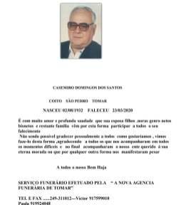 CASEMIRO DOMINGOS DOS SANTOS