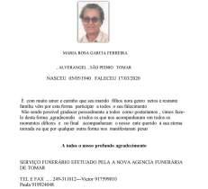 MARIA ROSA GARCIA FERREIRA