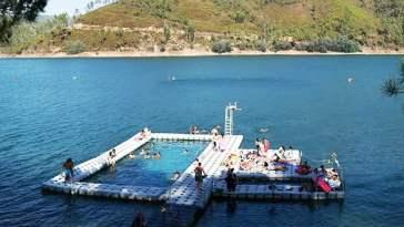 lago azul piscina